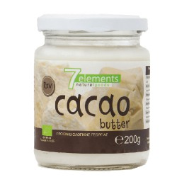 7elements Organic Cacao Butter Raw 200gr