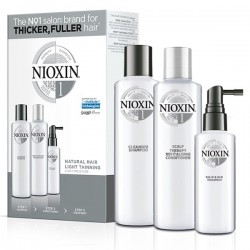 Nioxin Trial Kit System 1 (Shampoo 150ml + Conditioner 150ml + Treatment 50ml)