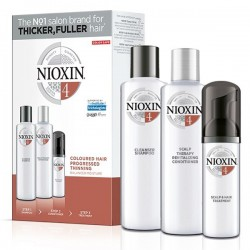 Nioxin Trial Kit System 4 (Shampoo 150ml + Conditioner 150ml + Treatment 40ml)