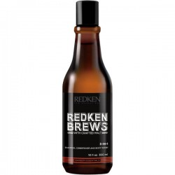 Redken Brews 3 in 1 Shampoo, Conditioner & Body Wash 300ml