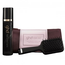 ghd Style Set Heat Protect Spray & Mini Paddle Brush