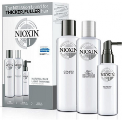 Nioxin Loyalty Kit System 1 (Shampoo 300ml + Conditioner 300ml + Treatment 100ml)