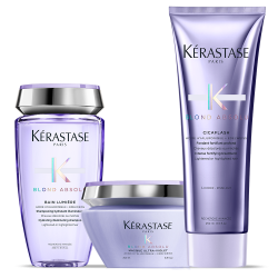 Kérastase Blond Absolu Set (Bain Lumiere 250ml + Cicaflash 250ml + Maque Ultra-Violet 200ml)