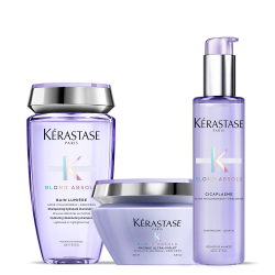 Kérastase Blond Absolu Set (Bain Lumiere 250ml + Cicaplasme 150ml + Maque Ultra-Violet 200ml)