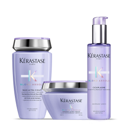 Kérastase Blond Absolu Set (Bain Ultra-Violet 250ml + Cicaplasme 150ml + Maque Ultra-Violet 200ml)