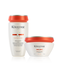 Kérastase Nutritive Set (Bain Satin 1 250ml + Masquintense Fine 200ml)