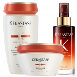 Kérastase Nutritive Set (Bain Satin 2 250ml + Masquintense Thick 200ml + 8H Magic Night Serum 90ml)