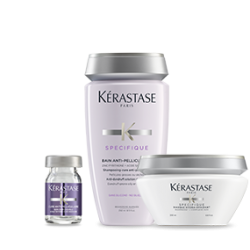 Kérastase Specifique Set (Bain Anti-Pelliculaire 250ml + Masque Hydra-Apaisant 200ml + Cure Anti-Pelliculaire 12X6ml)